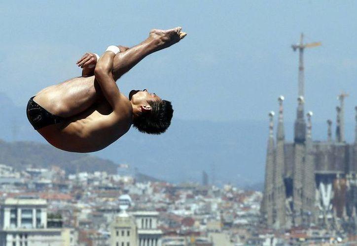 Qiu Bo reedita el título de campeón mundial en plataforma de 10 metros. (EFE)
