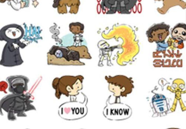 A pocos días del estreno de la nueva película The Force Awakens, Facebook presentó estos nuevos stickers que se podrán usar en Messenger y en las publicaciones. (Captura de pantalla)