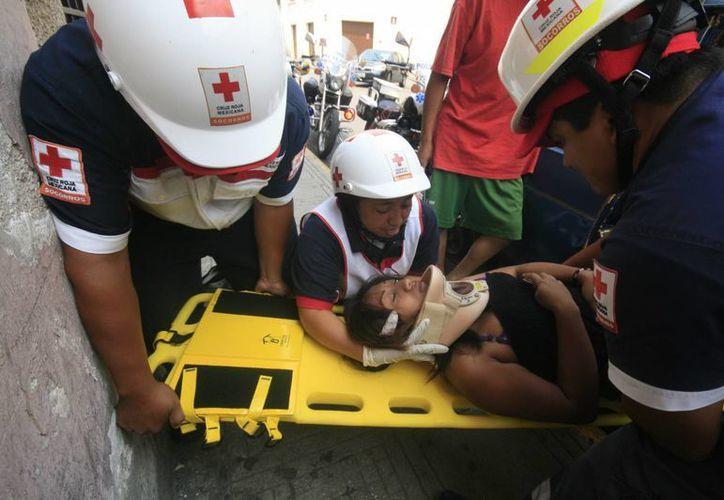 Una mujer que iba como copiloto en el Caribe terminó en el hospital. (Jorge Sosa/SIPSE)