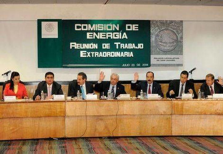 Aspecto de la reunión de trabajo de la Comisión de Energía de la Cámara de Diputados. (Tomada de Facebook / camaradediputados/MILENIO)