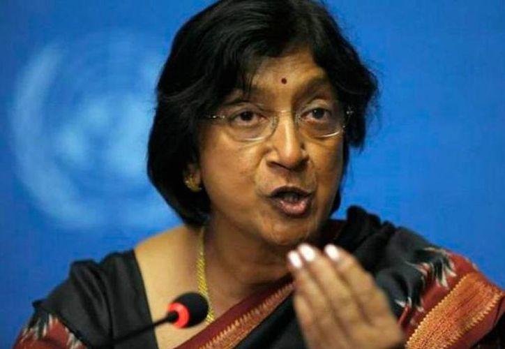 La Alta Comisionada de Naciones Unidas para Derechos Humanos (ACNUDH), Navi Pillay. (Archivo/AP)