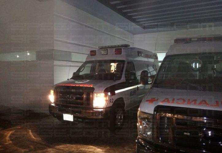 Los heridos fueron trasladados al Hospital General para su atención médica. (Rubén Dario/ SIPSE)