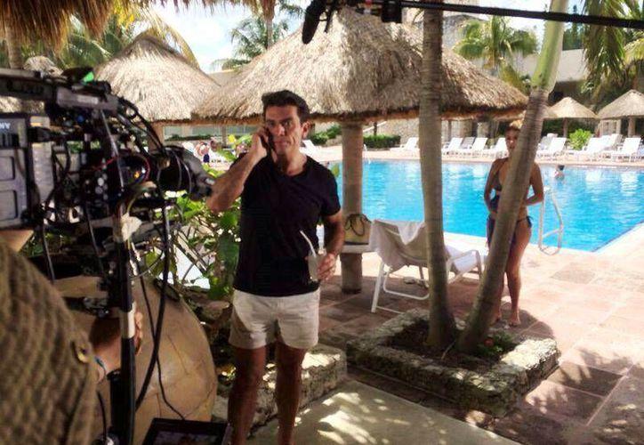 """Los actores y el productor de """"Mi corazón es tuyo"""" destacaron las bellezas de Cozumel, pero aún más el trato amable que recibieron de los isleños.  (Redacción/SIPSE)"""