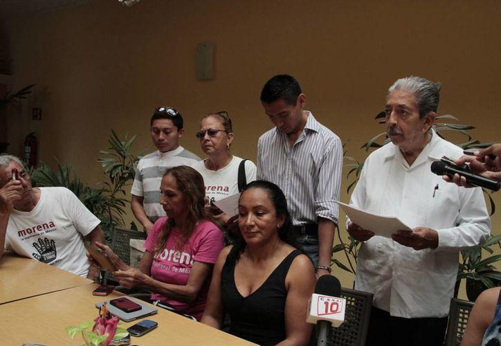 El movimiento está encabezado por Maximiliano Vega Tato, y el presidente del Comité Local, Alberto Batún Chulim. (Tomás Álvarez/SIPSE)