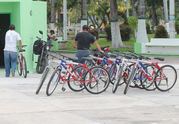 Las bicicletas otorgadas para el programa se agotaron en mes y medio. (Harold Alcocer/SIPSE)