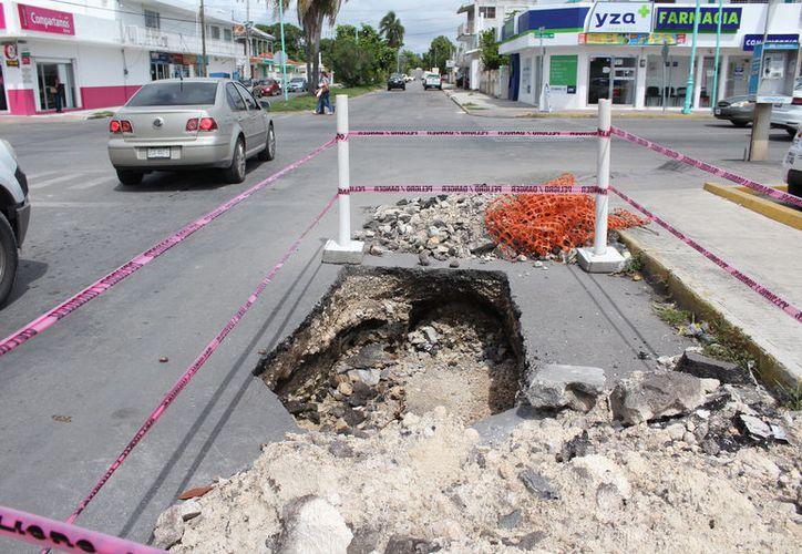 Desde 2011 se advirtió sobre el tema de los desfondes que afectan a la localidad en el Atlas de Riesgo de Othón P. Blanco. (Joel Zamora/SIPSE)