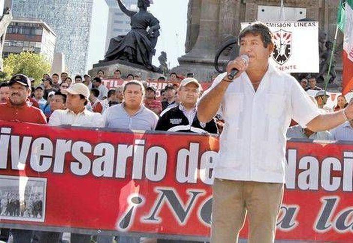 Rubén Núñez, el líder de la sección 22 de la CNTE en Oaxaca, afirmó que 'tenemos una propuesta alternativa a la reforma, con bases jurídicas y pedagógicas'. (Milenio)