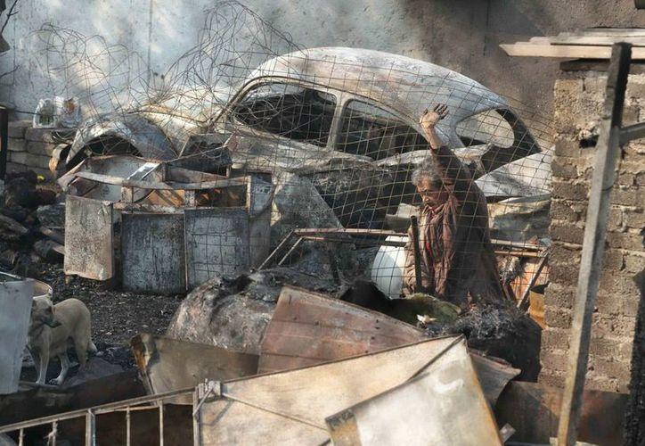 La pipa de gas que explotó el pasado 7 de mayo. (Archivo/Notimex)