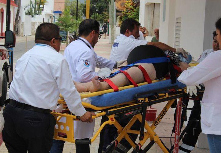 La turista perdió la vida de un paro cardíaco en la playa Paraíso de Cozumel. (Redacción/SIPSE)