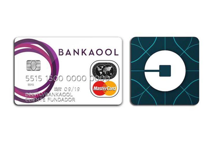 Uber lanza en unión con Bankaool y Mastercard un nuevo producto para sus usuarios. (Fotocomposición: SIPSE.com)
