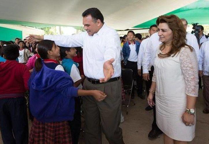 El gobernador Rolando Zapata estará este miércoles en Akil. (SIPSE)
