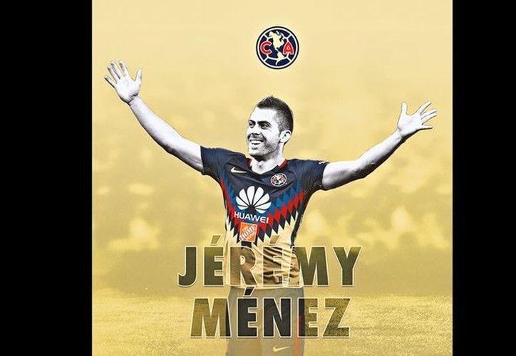 Las Águilas le dieron la bienvenida a Jérémy Ménez. (Twitter/América)