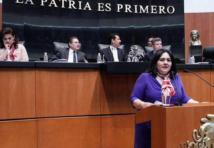 La senadora Diva Hadamira Gastélum propuso la creación del reconocimiento 'Elvia Carrillo Puerto'. (senado.gob.mx)