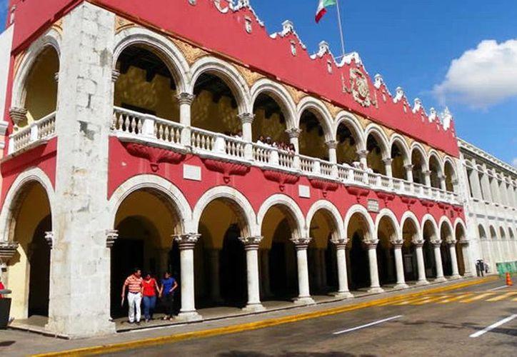 La Comuna ejercerá un presupuesto de más de dos mil 400 mdp. Imagen de la fachada del Ayuntamiento de Mérida. (Milenio Novedades)