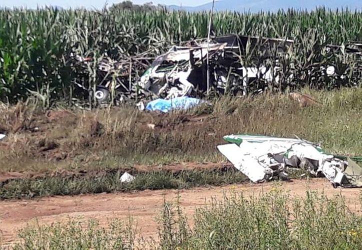 Uno de los pilotos murió en el lugar, el otro fue internado en un hospital. (Internet)