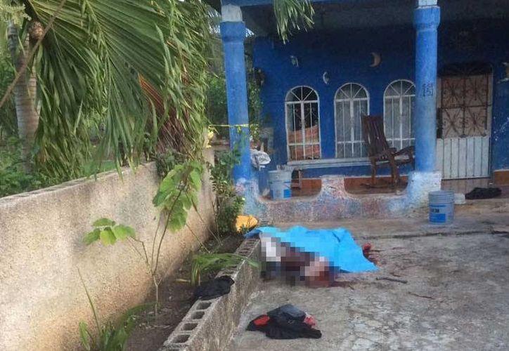 Una persona fue ultimada a machetazos en la comunidad Álvaro Obregón. (Redacción/SIPSE)