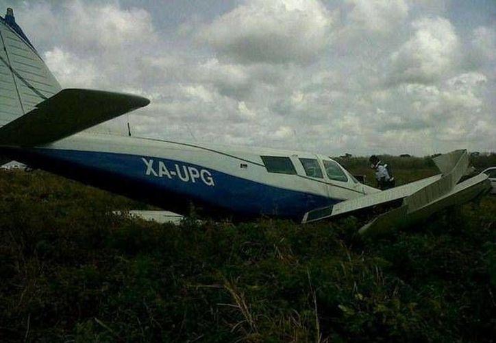 La avioneta con cuatro pasajeros y dos tripulantes a bordo iba con dirección a Cozumel. (Twitter)
