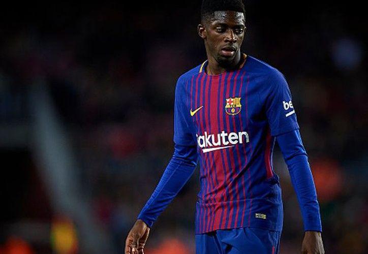 Ousmane Dembélé estará entre tres y cuatro semanas fuera de las canchas. (Getty Images)