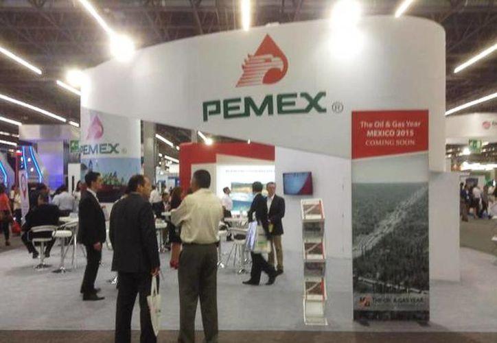 Imagen del stand de información de Pemex en el Congreso Mexicano del Petróleo en la Expo Guadalajara. (@Pemex)