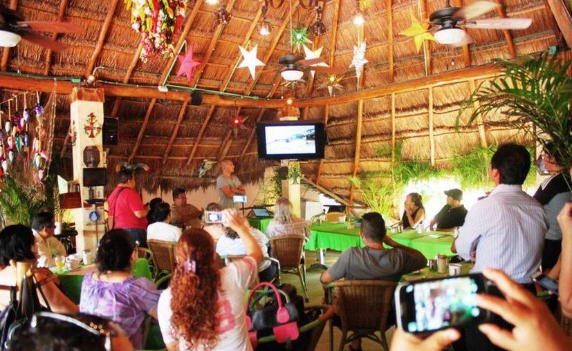 El tráiler del documental 'Erosión' fue presentado ayer en Playa del Carmen. (Daniel Pacheco/SIPSE)