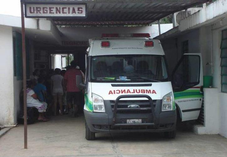Las unidades vehiculares de Salud permanecen estacionadas. (Carlos Yabur/SIPSE)