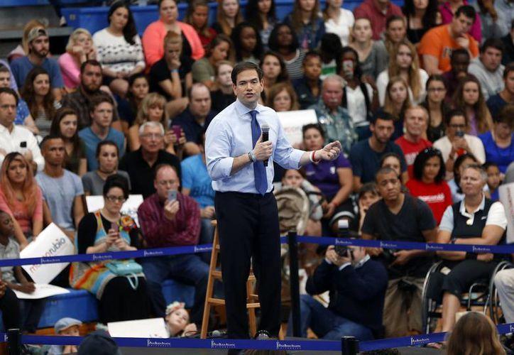 Para este lunes Marco Rubio encabezará cuatro eventos de campaña en el estado de Florida, previo a las primarias del martes. (AP)