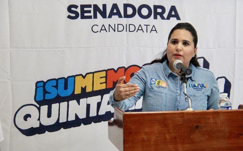 """""""En QR, las mujeres encabezan 25.6 por ciento de los hogares en el estado"""": Mayuli Martínez. (Foto: Redacción)"""