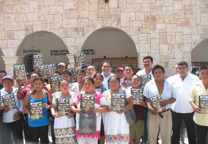 La comunidad indígena recibió los planes a desarrollar y sustentar. (SIPSE)