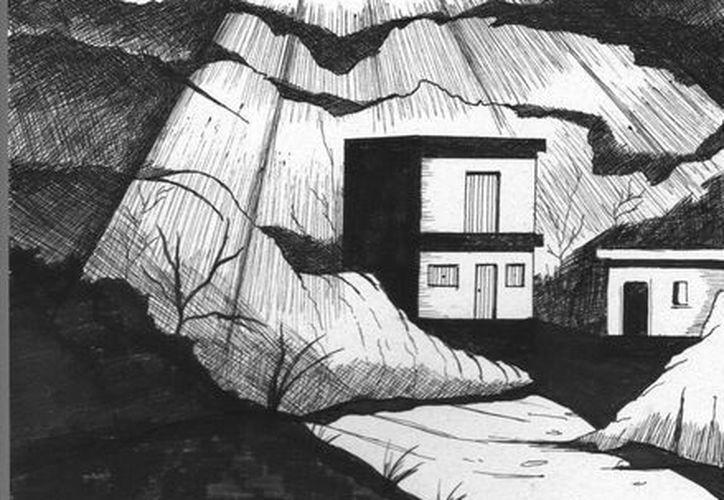 Retrato hablado del OVNI que iluminó la casa de los suegros del señor Manuel González en Buctzotz. (Jorge Moreno/SIPSE)