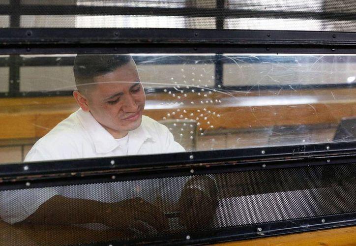 Foto del 27 de enero de 2016 muestra a Jaime Arellano durante una entrevista en la sala de visitas del sistema de prisiones Wynne Unit de Texas en Huntsville, Texas. (Foto AP/Pat Sullivan)