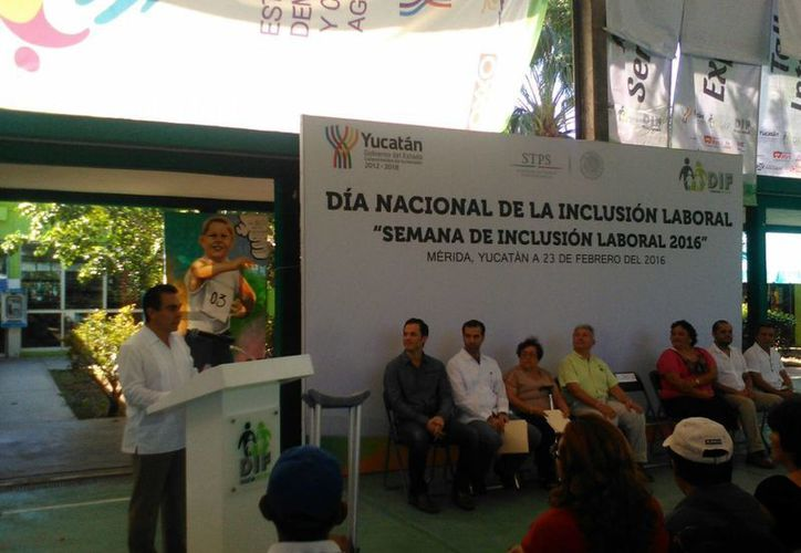 Inauguración de la Semana de la Inclusión Laboral 2016. (José Salazar/SIPSE)