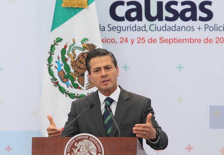 Peña Nieto asegura que su gobierno seguirá trabajando para lograr mejores beneficios para la ciudadanía. (Notimex)