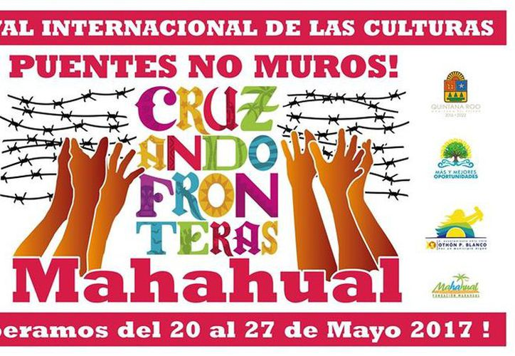 """El festival tiene como lema """"Puentes no muros"""". (Faride Cetina/SIPSE)"""