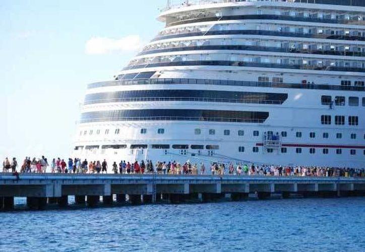 Los puertos de Quintana Roo lideran en el arribo de cruceros en México. (Redacción/SIPSE)