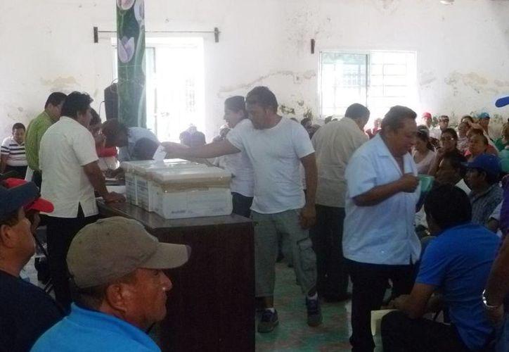 La elección se desarrolló con tranquilidad. En la asamblea participaron 716 ejidatarios. (Raúl Balam/SIPSE)