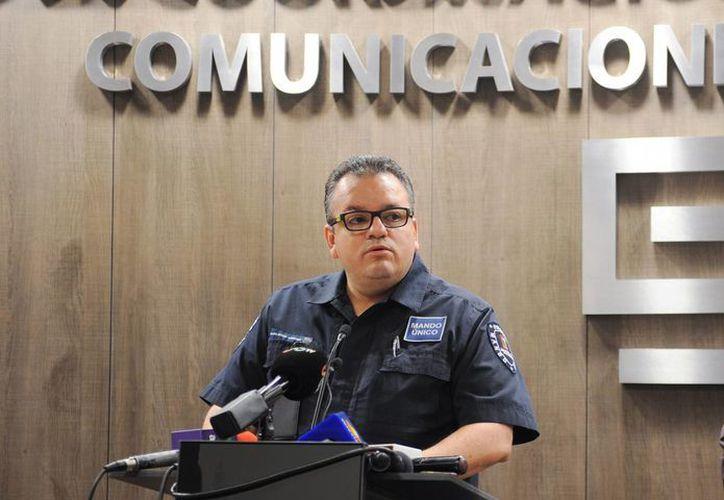 El comisionado estatal de seguridad, Alberto Capella, durante una conferencia de prensa tras el asesinato de la alcaldesa de Temixco. (Archivo/Notimex)