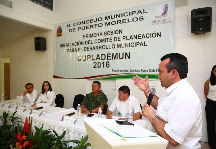 Sesión de instalación del Comité de Planeación para el Desarrollo del Municipio. (Tomás Álvarez/SIPSE)