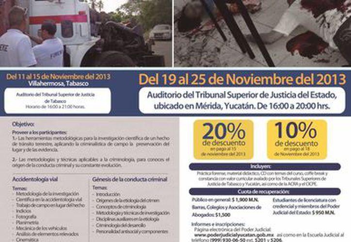 Los cursos que se imparten en la Semana Nacional de Criminalística 2013 están abiertos para todo público. (Cortesía)