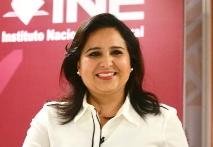 La candidata al Senado Mayuli Martinez participó en el primer debate ciudadano. (Foto: Redacción)
