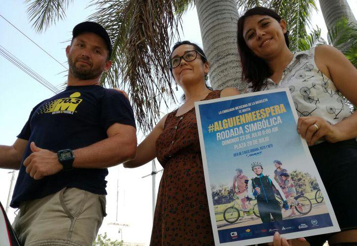 """Invitan a la población a la rodada denominada """"Alguien me espera"""". (Octavio Martínez/SIPSE)"""