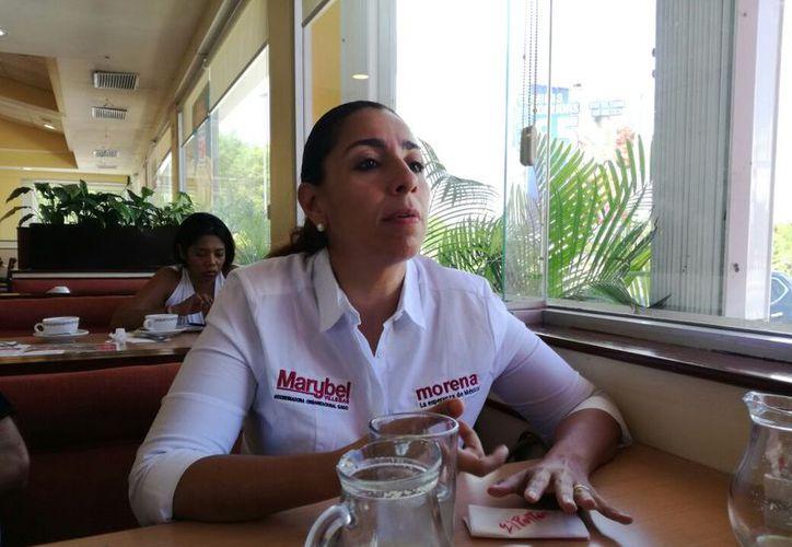 La coordinadora Organizacional de Morena, descartó un voto cruzado que pudiera afectar a los candidatos locales. (Joel Zamora/SIPSE)