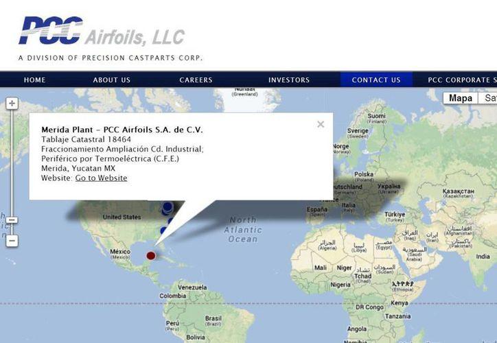 PCC Airfoils, firma prionera del sector aeropacial informó que durante su estancia en Yucatán ha invertido 8.5 mdd y generado más de 600 empleos. (pccairfoils.com)