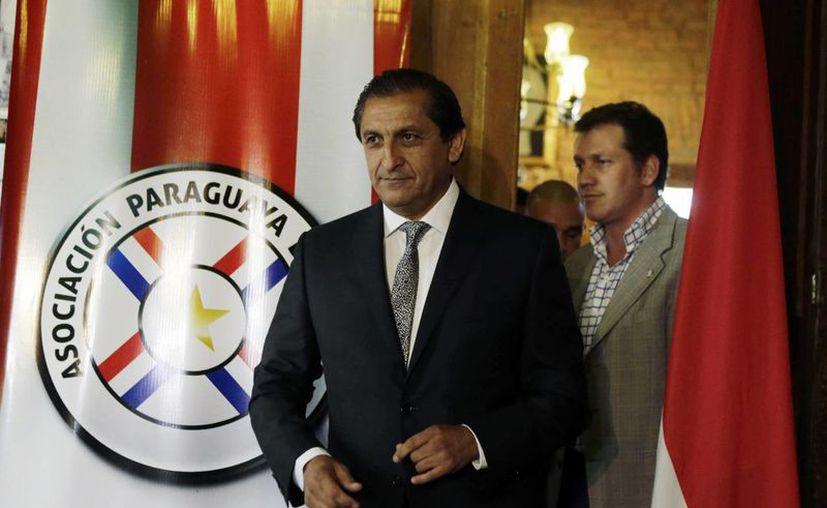 Ramón Díaz, El Pelado, durante su presentación como entrenador de Paraguay, cuyo primer gran compromiso es la Copa América de Chile en 2015. (Foto: AP)