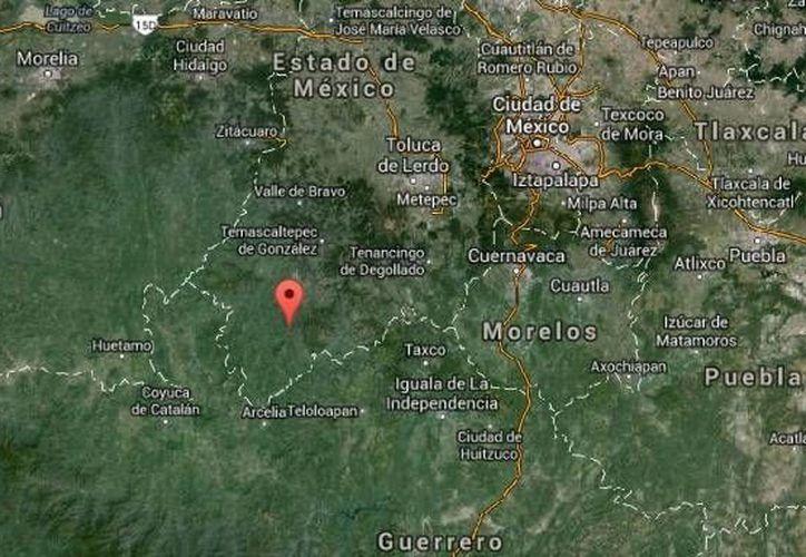 Durante la balacera en una Base de Operación Mixta, en Amatepec, Estado de México, falleció uno de los criminales más buscados por los gobiernos estatal y el federal. (Google Maps)