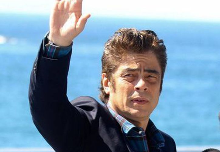El actor Benecio del Toro, quien este sábado presentó en el Festival de San Sebastián la película 'Sicario', ambientada en la frontera con Estados Unidos, asegura que en México la violencia está desbordada. (Efe)