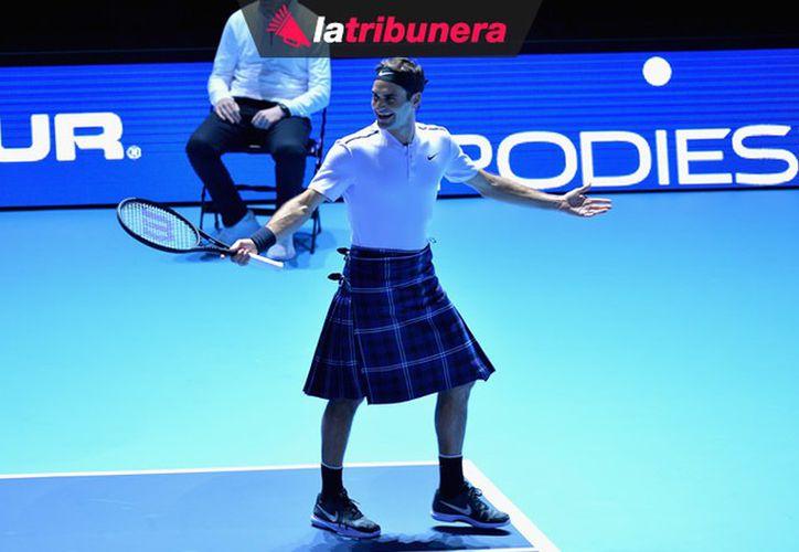 Federer se llevó el primer set del encuentro amistoso, mientras que Murray se quedó con el segundo. (Foto: Mediotiempo)