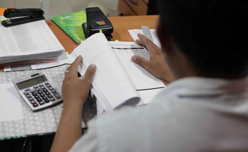 Las personas se dedican a la contaduría sin cédula profesional. (Daniel Tejada/SIPSE)
