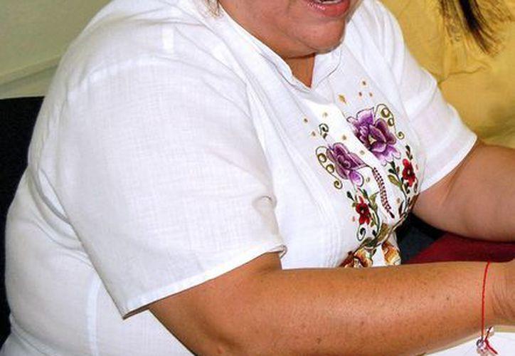 la directora del Indemaya,  Elizabeth Gamboa Solís. (Milenio Novedades)