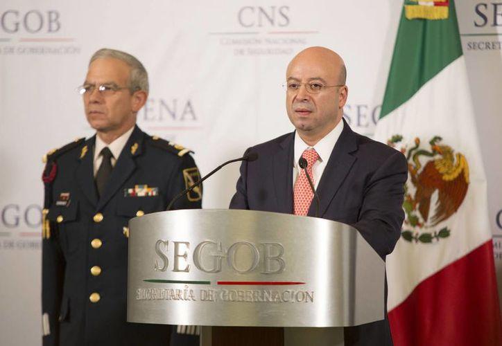 Renato Sales Heredia dio a conocer la captura de 23 presuntos secuestradores en el estado de Tamaulipas. (Archivo/Notimex)