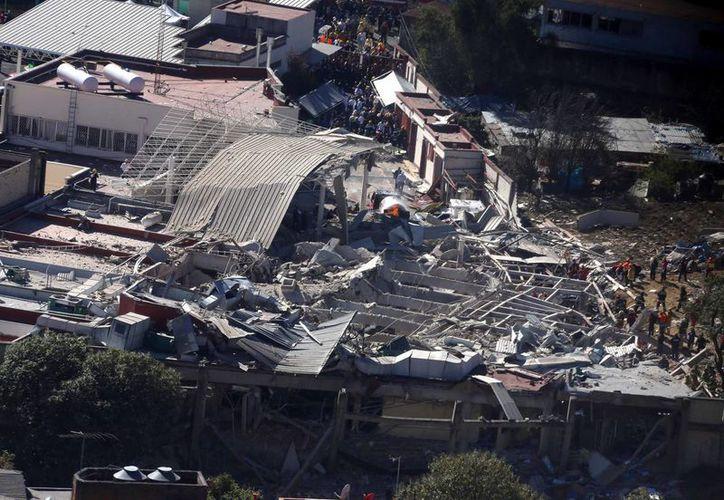 La explosión en el Hospital Materno Infantil Cuajimalpa se debió a una fuga de gas. (Notimex)